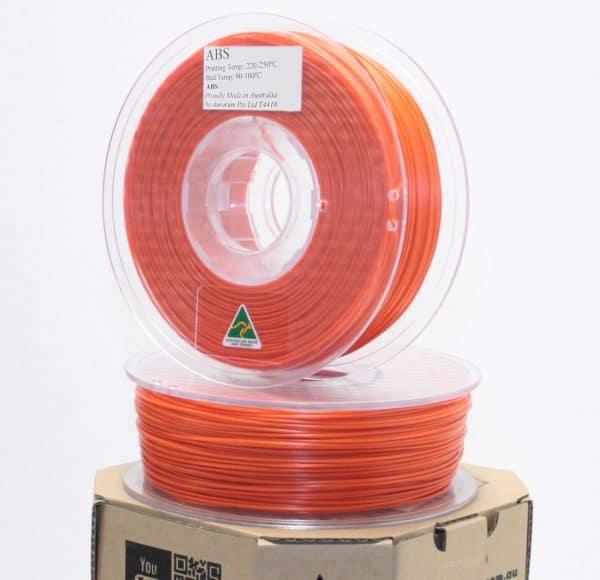 Aurarum ABS 3D Printer Filament - Orange 1.75mm 1Kg