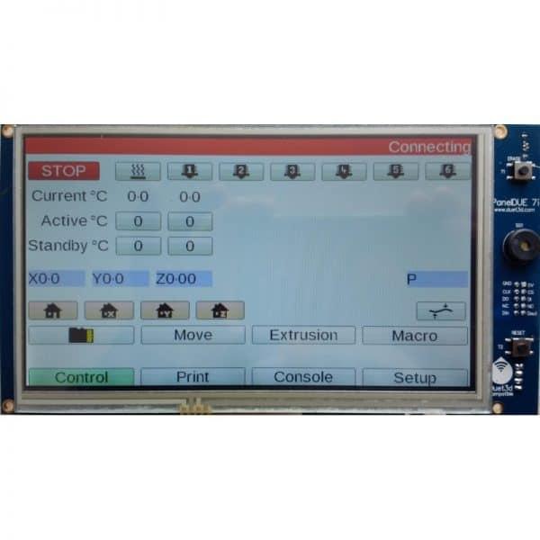 Genuine Duet 2 3D PanelDue - Integrated LCD TFT