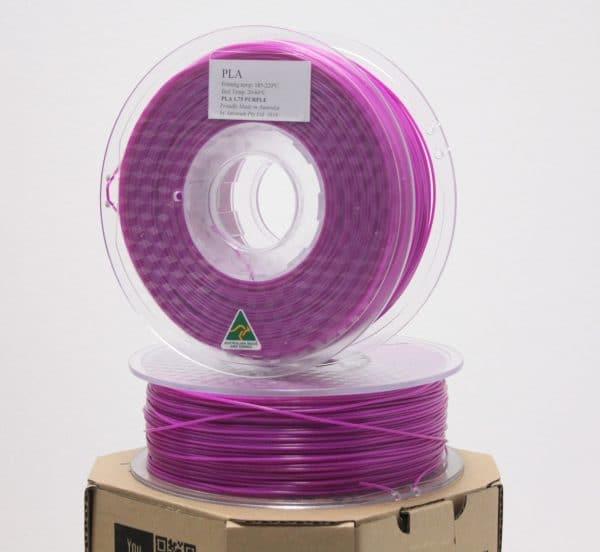 Aurarum PLA 3D Printer Filament - Purple 1.75mm 1Kg