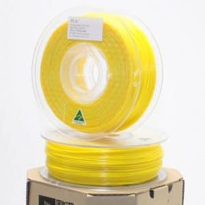 Aurarum PLA 3D Printer Filament – Yellow 1.75mm 1Kg
