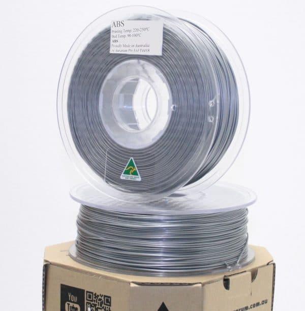 Aurarum ABS 3D Printer Filament - Silver 1.75mm 1Kg