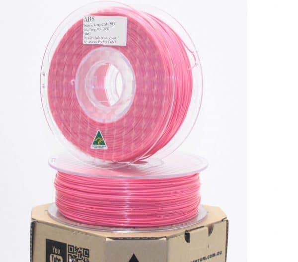 Aurarum ABS 3D Printer Filament - Pink 1.75mm 1Kg