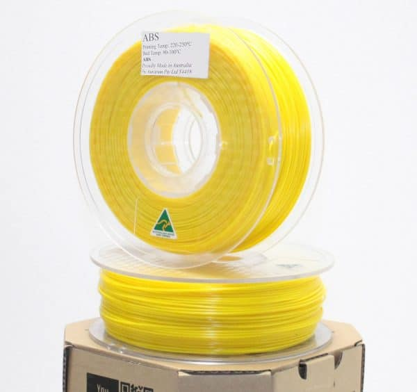 Aurarum ABS 3D Printer Filament - Yellow 1.75mm 1Kg