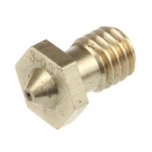Nozzle 0.5 mm Brass J-Head M6 Thread 2pcs