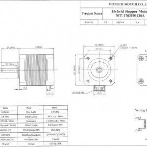 1.8 degrees nema 17, 4.4 kgcm 40mm (blacK)