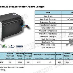 Nema23 stepper motor high torque 1.8 degrees