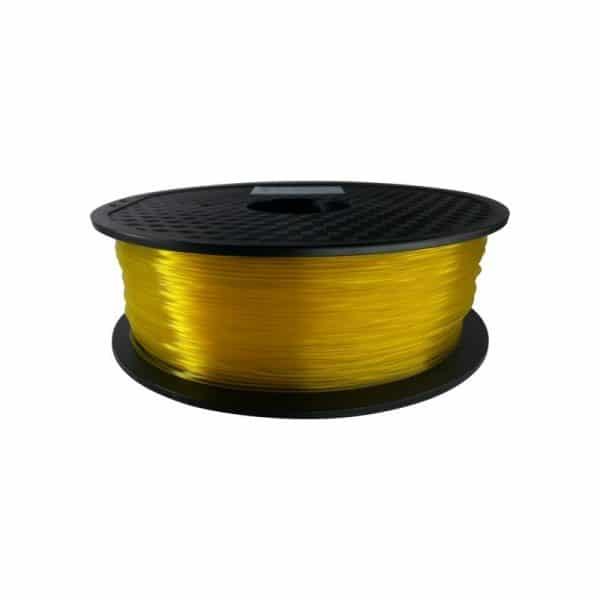 Aurarum PLA 3D Printer Filament - Transparent Yellow 1.75mm 1Kg