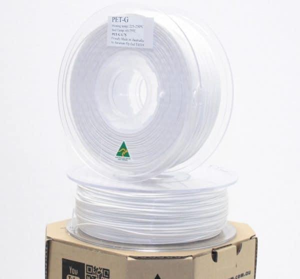 Aurarum PET 3D Printer Filament - White 1.75mm 1Kg
