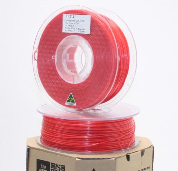 Aurarum PETG 3D Printer Filament - Red 1.75mm 1Kg