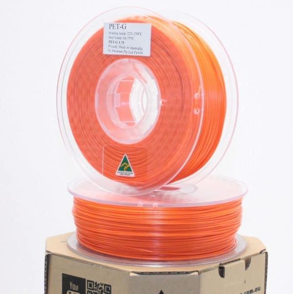 Aurarum PETG 3D Printer Filament - Orange 1.75mm 1Kg