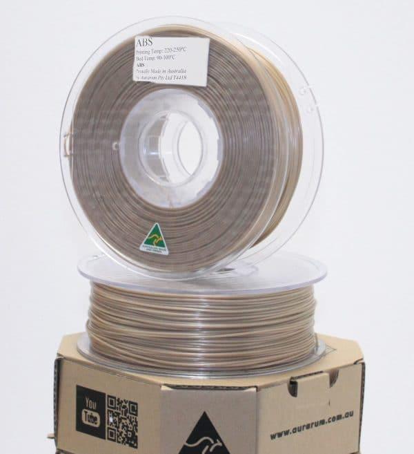 Aurarum ABS 3D Printer Filament- Gold 2.85mm 1Kg