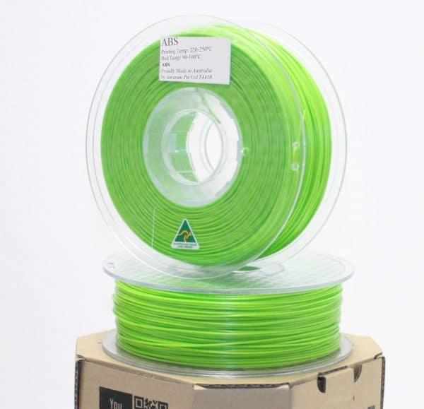 Aurarum ABS 3D Printer Filament - Lime Green 2.85mm 1Kg