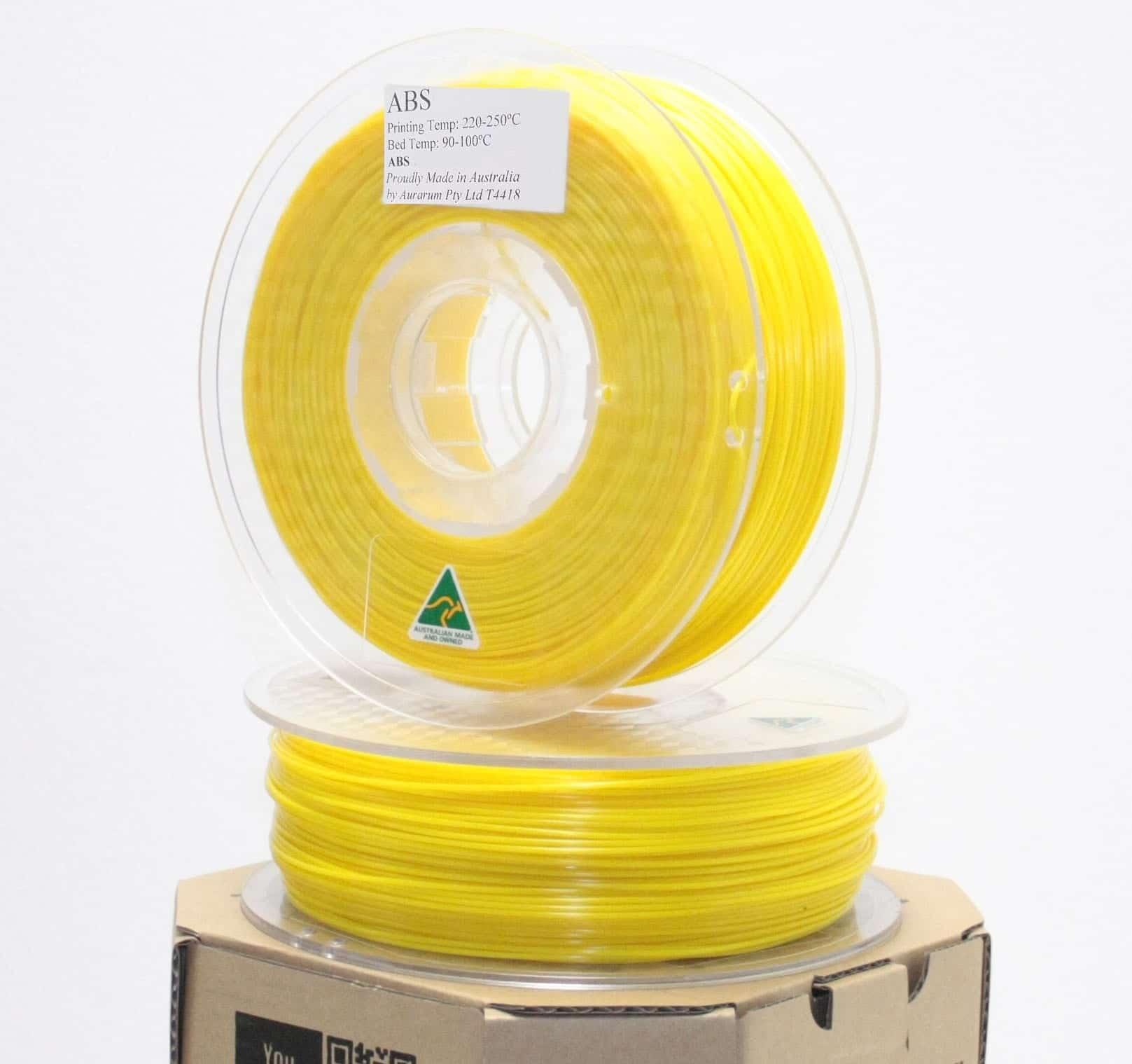 Aurarum ABS 3D Printer Filament - Yellow 2.85mm 1Kg