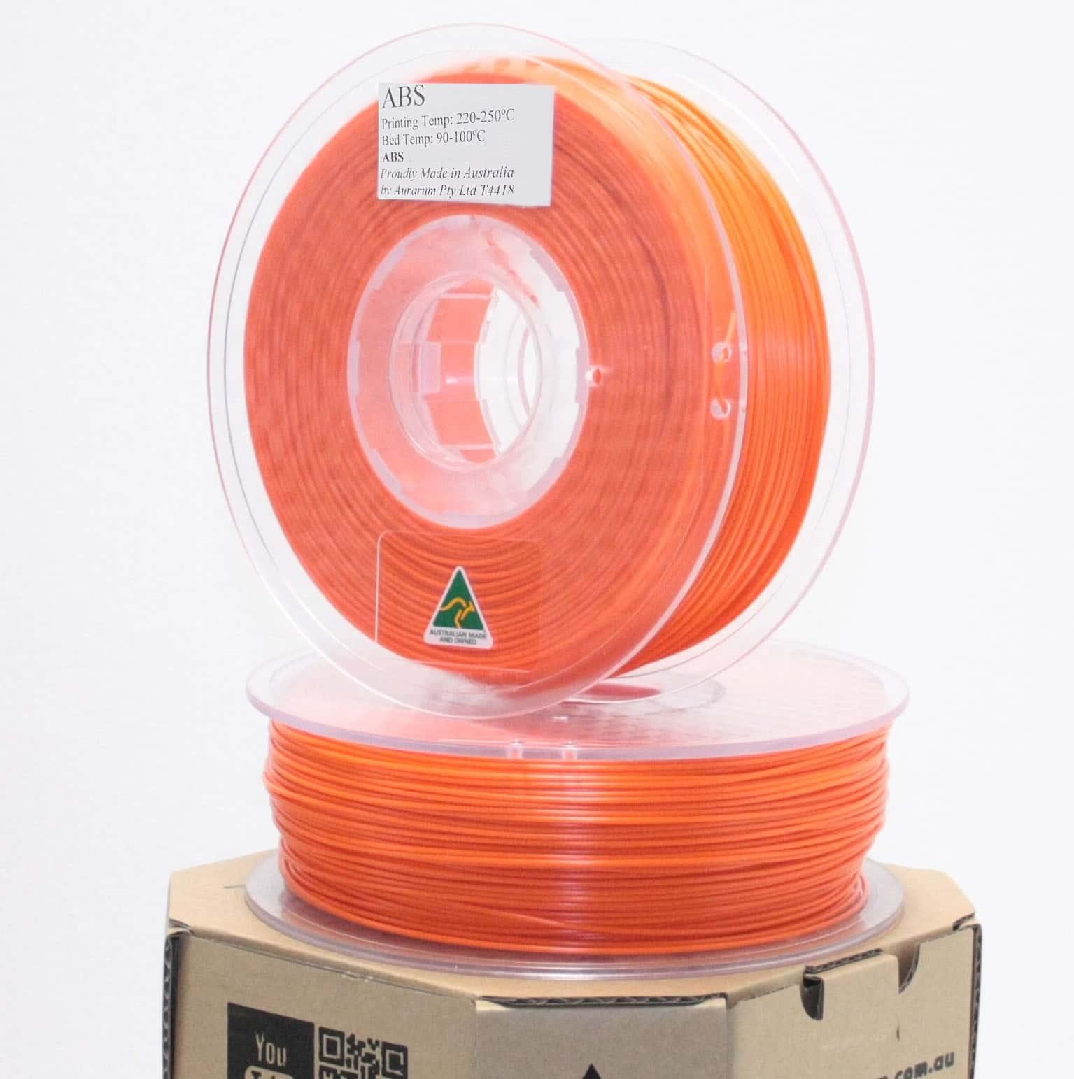 Aurarum ABS 3D Printer Filament - Safety Orange 2.85mm 1Kg