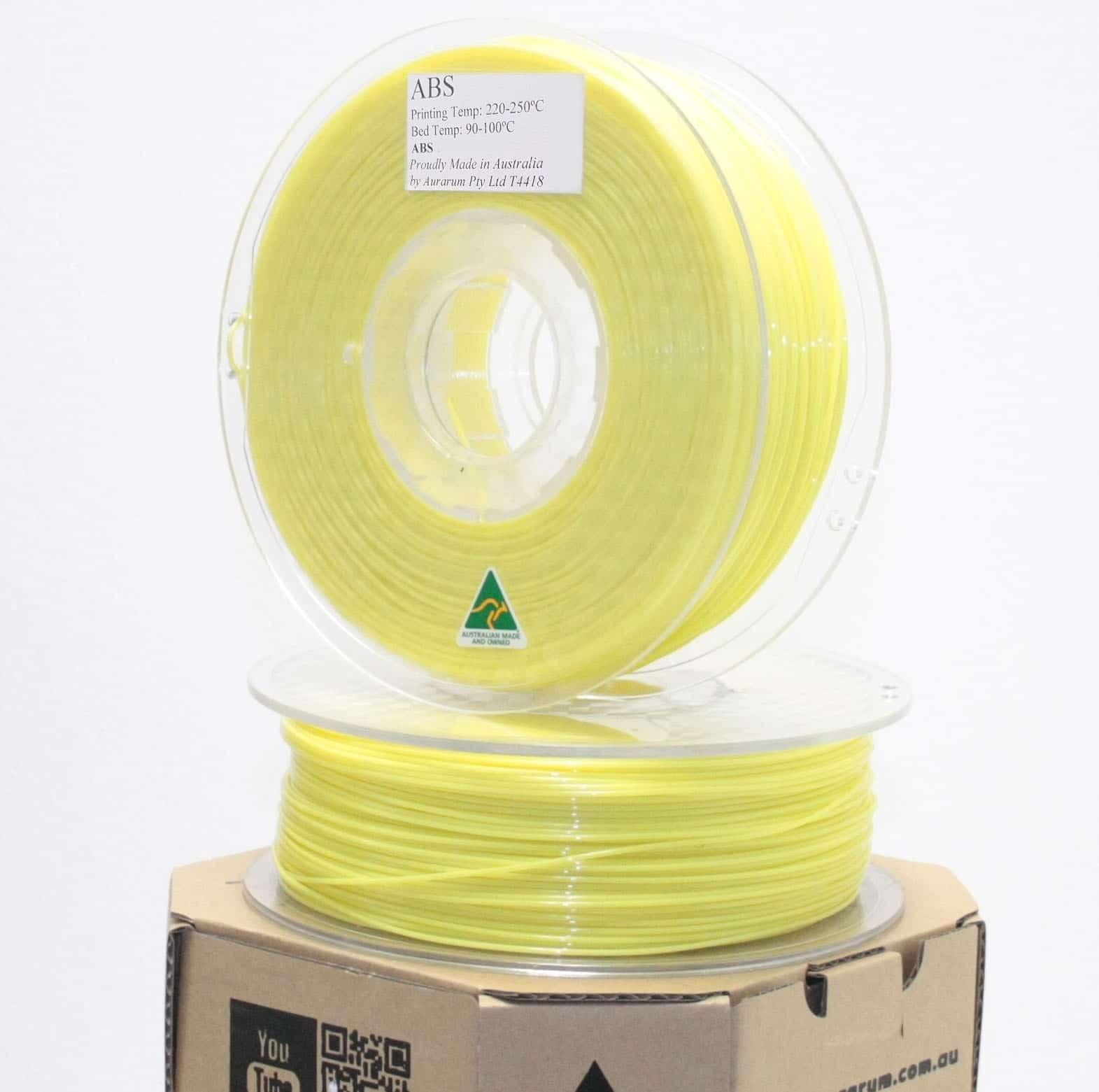 Aurarum ABS 3D Printer Filament - Safety Yellow 2.85mm 1Kg