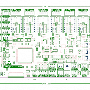 3D Printer Board ARM 32Bit Lerdge-K Control Motherboard with 3.5inch TFT LCD for Dual Extruder 3d printer with TMC2209