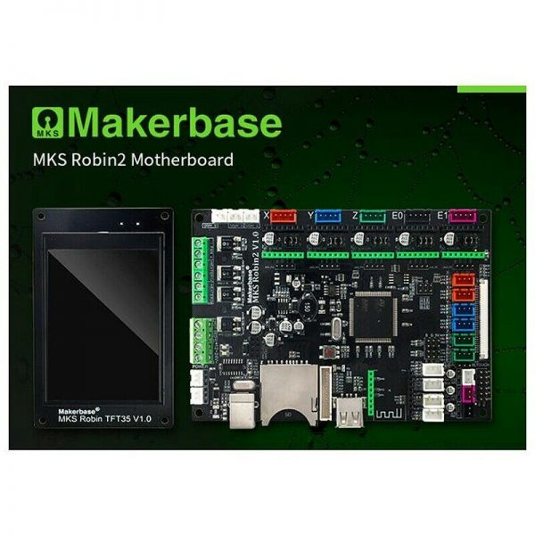 Makerbase 3D Printer STM32 MKS Robin2 Motherboard with 3.5inch TFT LCD