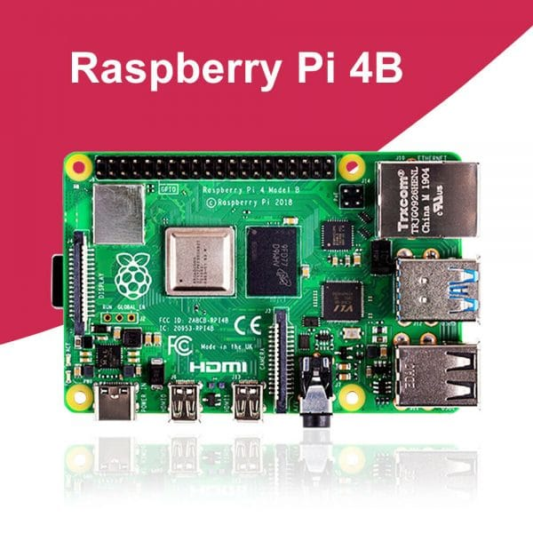 Raspberry Pi 4 Model B, BCM2711 SoC, 2GB DDR4 RAM, USB 3.0, PoE Enabled