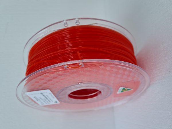 Aurarum PLA 3D Printer Filament - Translucent Red 1.75mm