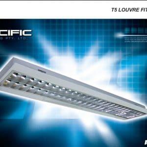 Pacific Lighting PAC 228 VDU T5 Louvre fitting 2X28W lights